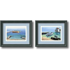 Peaceful Morning Framed Print by Frane Mlinar (Set of 2)