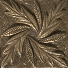 "Renaissance 2"" x 2"" Reggio Insert Tile in Antique Bronze"