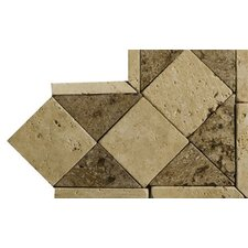 "Natural Stone 4"" x 4"" Classic Lt Travertine Listello Corner"