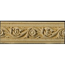 "Natural Stone 12"" x 4"" Romansa Tralcio Travertine Molding in Beige"