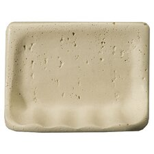 "Villa Romansa 5"" x 8"" Travertine Soap Dish"
