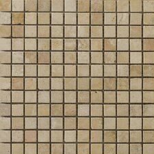 "Natural Stone 12"" x 12"" Vino Travertine Mosaic in Gold"