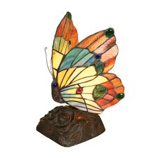 Tiffany Style Butterfly Accent Table Lamp