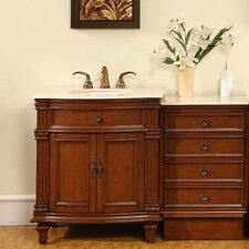 "Sophia 51"" Single Sink Bathroom Vanity Set"