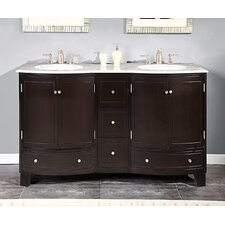 "Naomi 60"" Double Sink Cabinet Bathroom Vanity Set"
