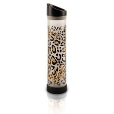 Savoy 16 Oz Leopard Glass Water Bottle