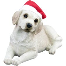 Lying Yellow Labrador Retriever Christmas Ornament