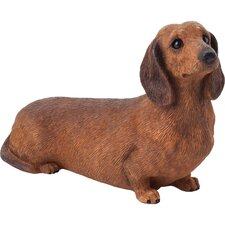Mid Size Dachshund Sculpture in Red