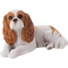 Mid Size Cavalier King Charles Spaniel Sculpture in Ruby