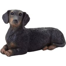 Small Size Dachshund Sculpture in Black