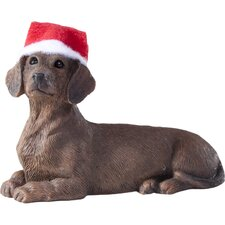 Red Dachshund Christmas Ornament