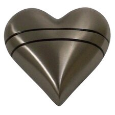 Pewter with Lines Heart Keepsake Urn