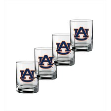 Collegiate 14 Oz Auburn Glass (Set of 4)
