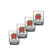 Collegiate Maryland 14 Oz Glass (Set of 4)