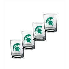 Collegiate 14 Oz Michigan State Glass (Set of 4)