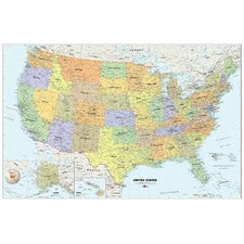 USA Dry-Erase Map Decal