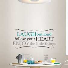 Wall Art Kit Laugh Out Loud Wall Quote Decal