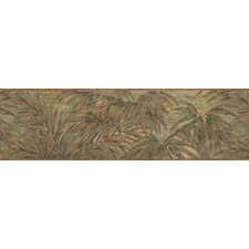 Destinations by the Shore Bamboo Leaf Letter Wall Border