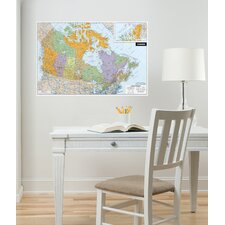 WallPops Dry-Erase Canada Dry-Erase Map Wall Decal