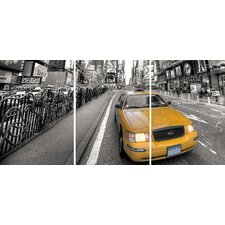 Euro Taxi Panoramic Wall Decal
