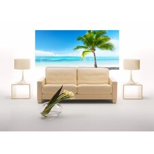 Euro Palms And Sea Panoramic Wall Decals