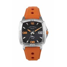 Men's Baja Relax Watch in Black and Orange
