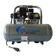 1.6 Gallon Ultra Quiet and Oil-Free 3/4 HP Aluminum Tank Air Compressor