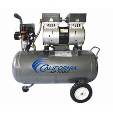 6.3 Gallon Ultra Quiet and Oil-Free 1.0 HP Steel Tank Air Compressor