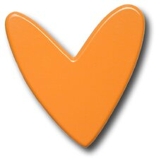 Modern Heart Drawer Knob in Orange
