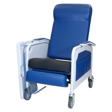 Three Position Convalescent Recliner with Saddle Seat