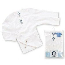 Newborn Side Snap Mitt Cuff Shirt in White (Pack of 2)