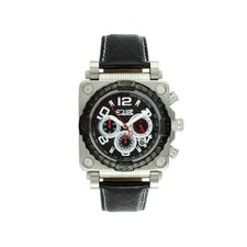 Gasket Men's Watch with Silver Case and Black Bezel