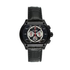 Dash Men's Watch in Black Leather