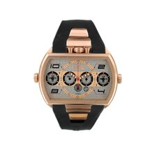 Dash XXL Men's Watch with Rose Gold Case and Silver Dial