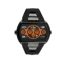 Dash XXL Men's Watch with Black Case and Black / Orange Dial