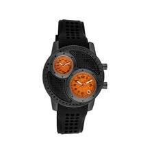 Octane Men's Watch with Black Case and Orange Dial