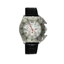 Paddle Men's Watch with Silver Case and White Dial