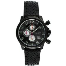 Hemi Men's Watch with Black Rubber Band and Black Hand