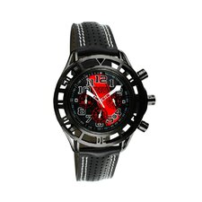 Mustang Boss 302 Mens Watch with Satin Black Case and Markers