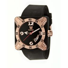 Deepest Lady Ladies Watch in Black with Rose Gold Bezel