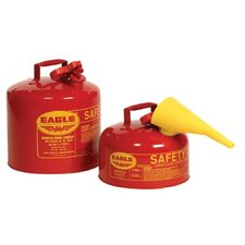 Type l Safety Cans - 5gal type 1 safety can w/funnel