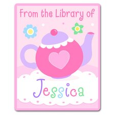 Tea Party Personalized Kids Book Plate