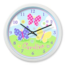 Butterfly Garden Personalized Clock