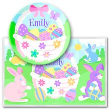 Easter Girls Personalized Meal Time Plate Set