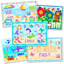 Girls  Five Pack Summer Fun Personalized Placemat