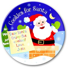 Cookies for Santa Personalized Kids Plate