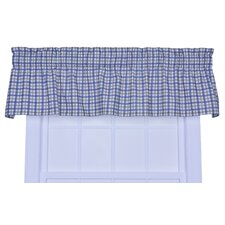Bristol Cotton Two-Tone Plaid Valance Window Curtain