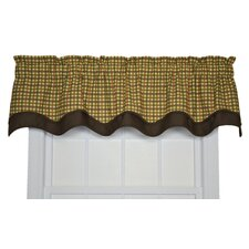 Charlestown Check Bradford Cotton Valance Window Curtain