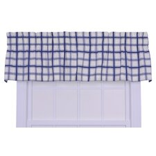 Logan Cotton Rod Pocket Large Scale Plaid Tailored Valance Window Curtain