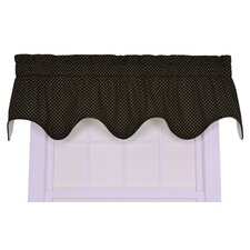 Tremblay / Tyvek Cotton Small Scale Diamond Lined Valance Window Curtain